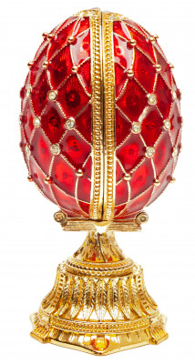 90 mm Red Lattice Saint Basil Cathedral Easter Egg