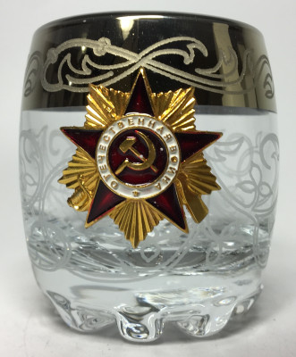 80 ml Order of Great War USSR Army Crystall Glass Shot Glass