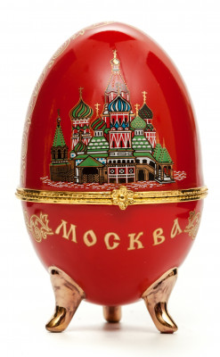 Easter Egg box with Moscow Picture red