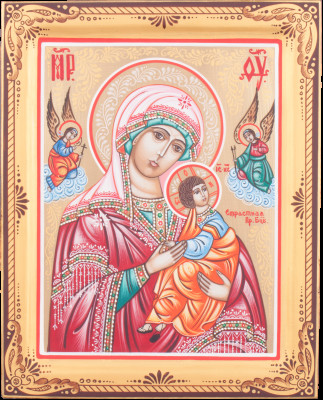 Passionate Godmother handpainted wooden Icon (by Galina Studio)