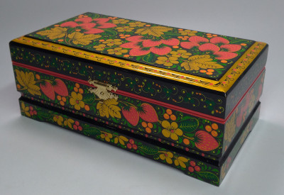 Khokhloma Painting Jewellery Wooden Box 220x120mm