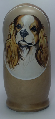 160mm Dog hand painted Matryoshka 5pcs (by Alexander Famous Paintings))