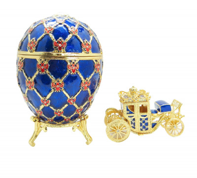 145 mm Imperial Coach and Dark Blue Imperial Coronation Easter Egg