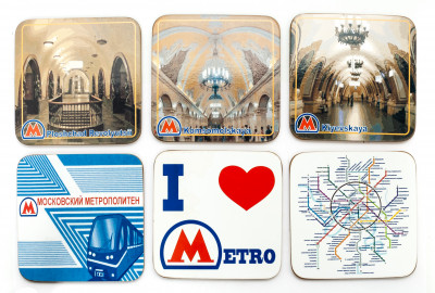 Coasters with Moscow Metro
