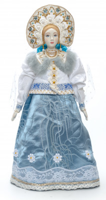 The Snow Maiden Princess hand-sewn Porcelain Doll - 21 Inches