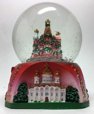 65mm Snt Basil and Moscow Attractions Snow Globe (by Mihail Crafts)