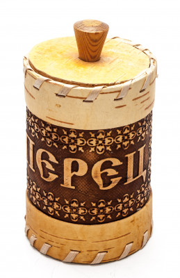 65x115 mm hand made birch Pepper Cellar (by Maxim Birch)