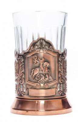 Snt George Pure Copper Tea Glass Holder (by Kolchugino)
