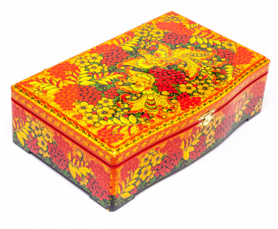 Khokhloma Painting Tea Wooden Box 295x165mm