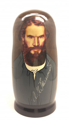 Leo Tolstoy Matryoshka Doll 5pcs Big
