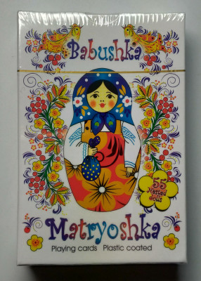 Matryoshka Playing Cards White