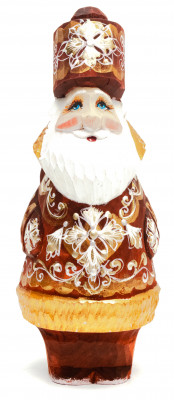 160 mm Santa Claus with a bag of gifts (by Igor Carved Wooden Figures Studio)
