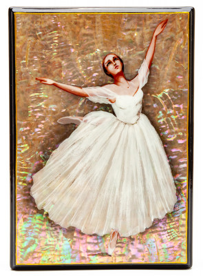 120x170mm Ballerina Hand Painted Jewellery Box (by Tatiana Shkatulka Crafts)