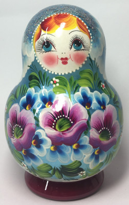 150 mm Maidan Patterns hand painted Wooden Matryoshka Doll 10 pcs (by Mihail Matryoshka Studio)