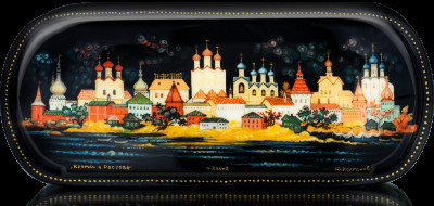 Rostov Kremlin hand painted Papier-mâché box (by Pavel Studio)