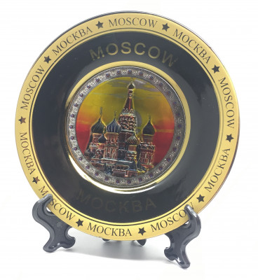 120 mm Snt Basil's Cathedral Ceramic Souvenir Plate (by Sergey Factory)