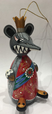 150 mm The Mouse King hand carved and painted wooden Statue (by Andrey Crafts)