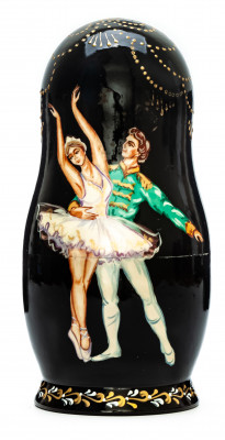 180mm Russian Ballet hand painted on wooden Matryoshka doll 5 pcs (by Alexander Famous Paintings Studio)
