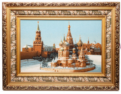 720x540 mm Red Square hand-embroidered on Canvas tapesty (by Skazka)